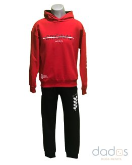 Pi-X conjunto chico jogging sudadera roja Original