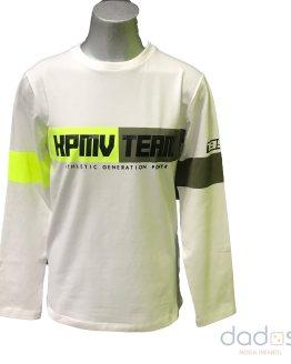 IDO camiseta chico blanca logo fluor