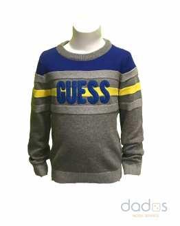 Guess jersey niño gris combinado con azulón
