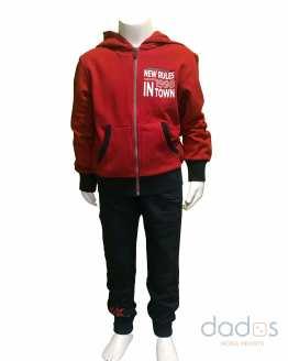 Ido conjunto niño jogging y chaqueta roja