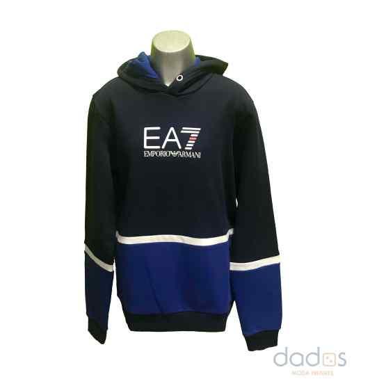 Armani EA7 sudadera chico capucha combinada