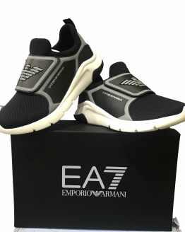 Armani EA7 sneaker negro y plata