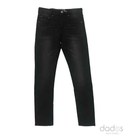 Petrol pantalón chico denim negro elástico
