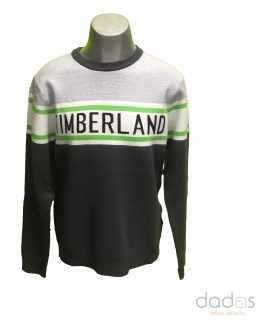 Timberland jersey chico gris combinado