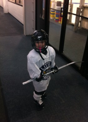 Pittsburgh Childrens Girl ice hockey practice