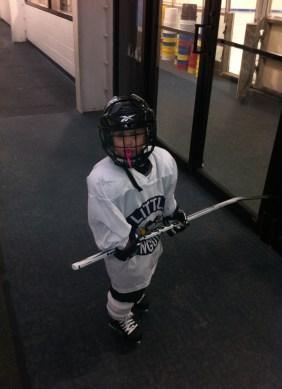Pittsburgh Childrens Girl ice hockey practice
