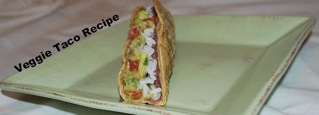 Guacamole, Beans, rice veggie tacos