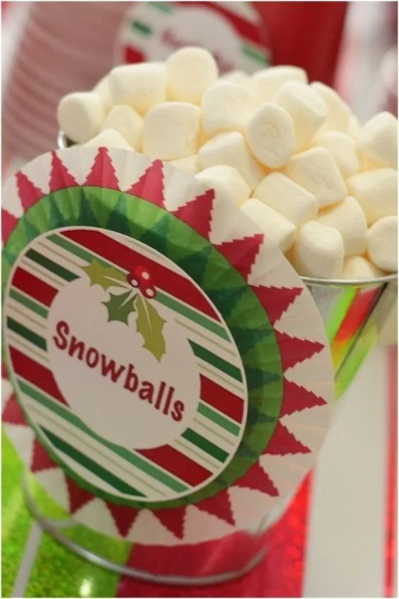 21 Christmas Party Ideas for Kids Snowball Buckets