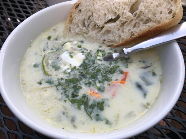 Grilled Corn and Green Chili Chowder