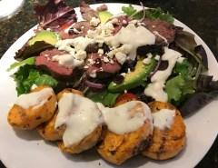 Venison Loin and Avocado, Tomato Salad