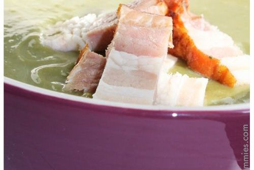 squash bacon spinach soup