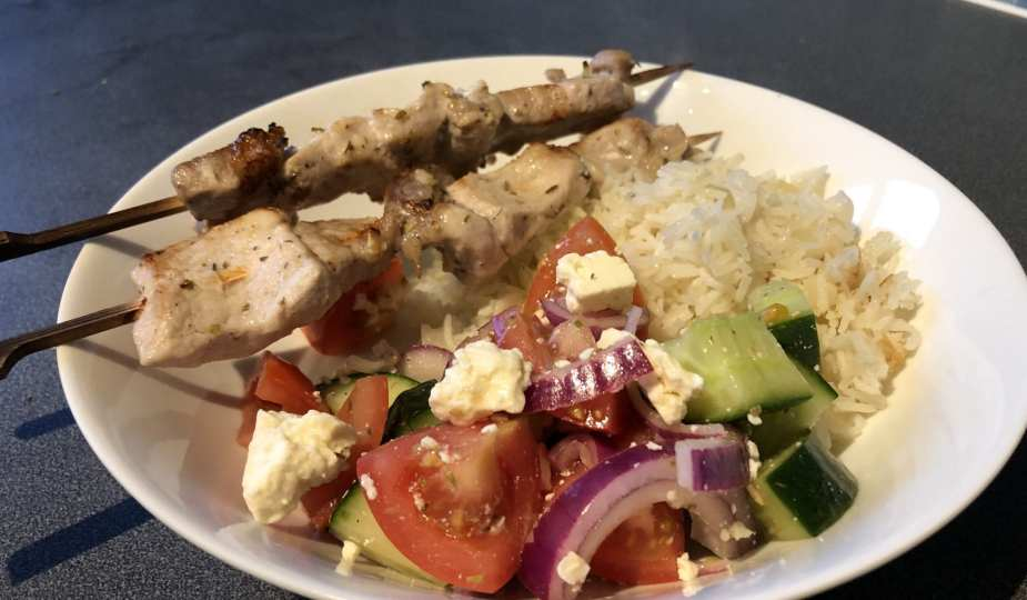 Greek Pork Kebabs