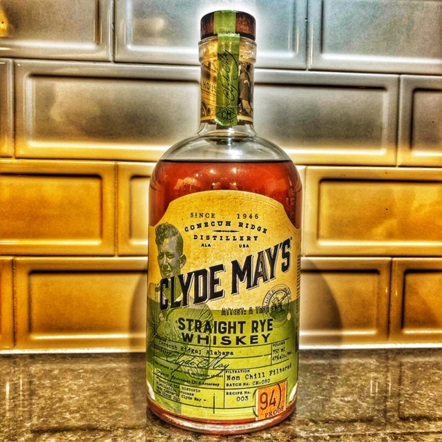 1/2 oz Pour: Clyde Mays Rye