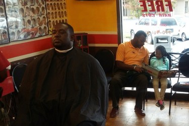 Real Dads Read at Barbershop in Atlanta