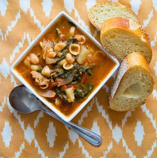 Escarole Soup with Spicy Sausage