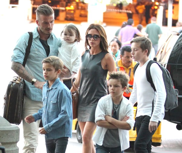 EXCL beckham family 060712
