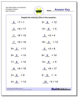 Algebra Fun Sheets Answer Key : algebra, sheets, answer, Pre-Algebra, Worksheets