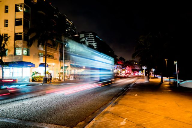 Night Time Street - Hilton Ft Lauderdale Beach Resort