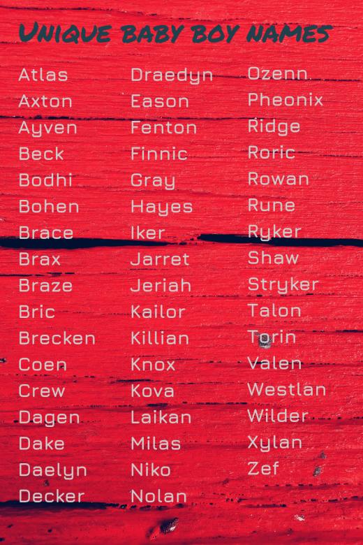 Unique Uncommon Girl Names