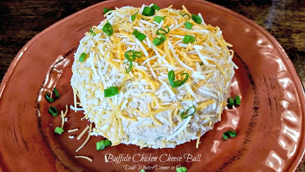 Buffalo Chicken Cheese Ball | http://dadwhats4dinner.com