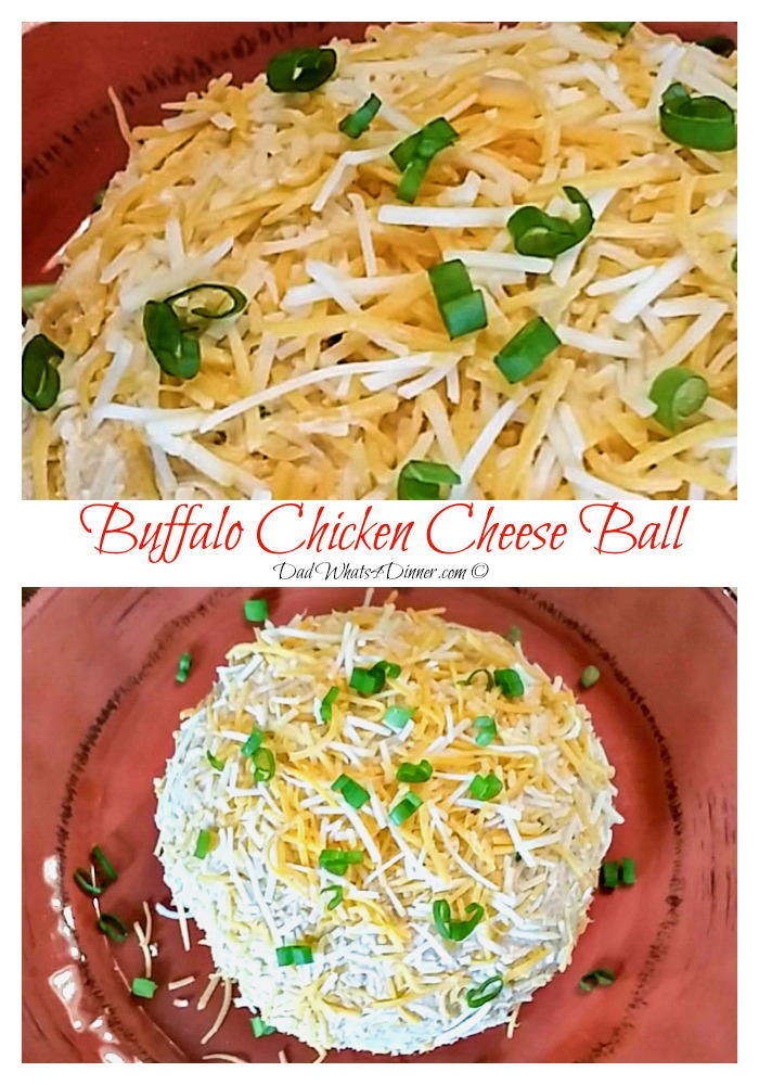 Buffalo Chicken Cheese Ball | https://dadwhats4dinner.com