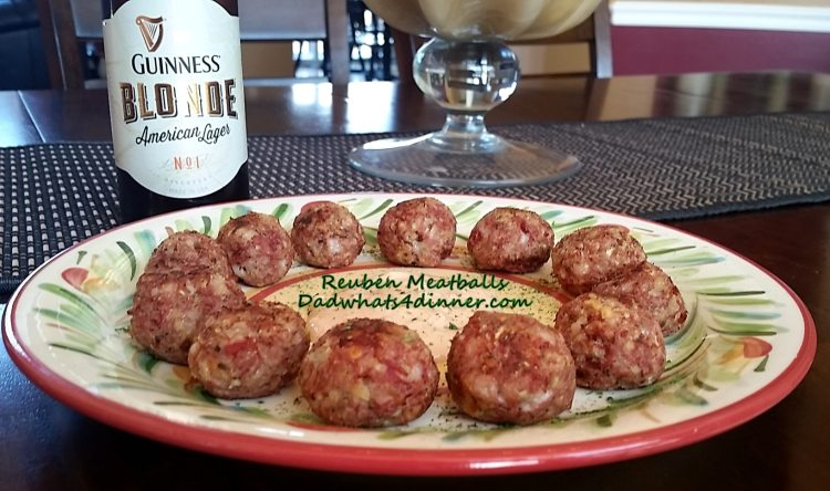 Get your green on for St. Patrick's Day with these Reuben Meatballs!