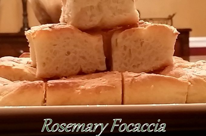 Homemade Rosemary Focaccia Yeast Bread