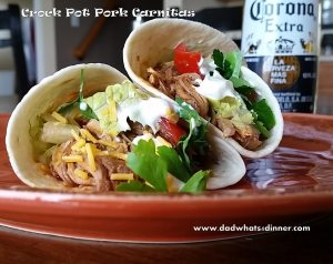 Crock Pot Pork Carnitas | www.dadwhats4dinner.com