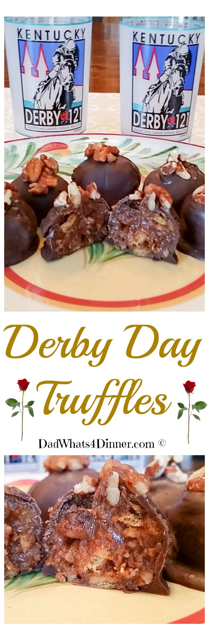 Derby Day Truffles are very decadent, elegant and exquisite to look at. You will be the hit of your Kentucky Derby Party, I guarantee it!