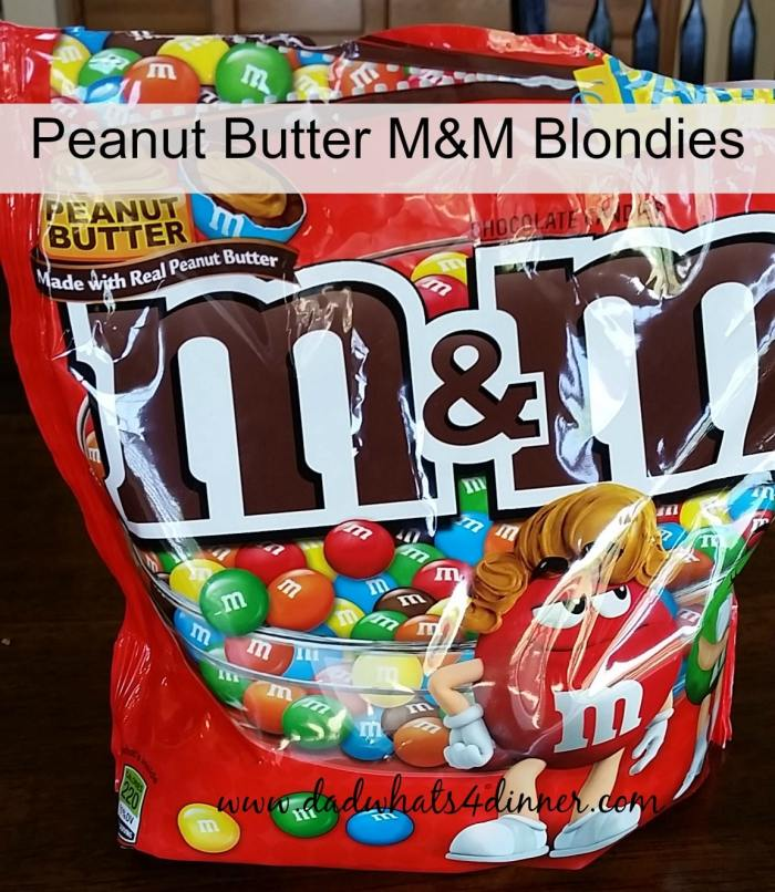 Peanut Butter M and M Blondies take the wonderful little candy to a whole new level. Quick, easy and fun to eat. | www.dadwhats4dinner.com