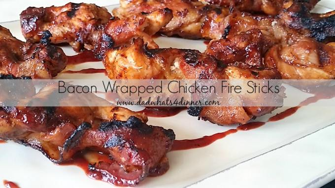 Bacon Wrapped Chicken Fire Sticks