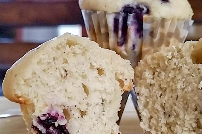 Blueberry Mascarpone Muffins