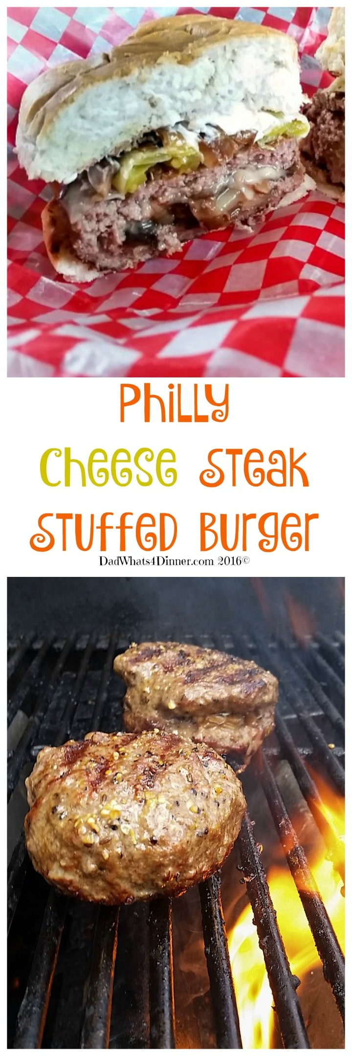 Get your grill ready for Labor Day with this awesome Philly Cheese Steak Burgers recipe. Great twist on my favorites; Cheese Steak and Burgers.