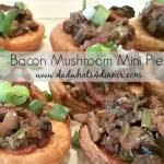When you need an elegant appetizer, but short on time, make these savory Bacon Mushroom Mini Pies. A fairly simple recipe which can be made ahead of time.