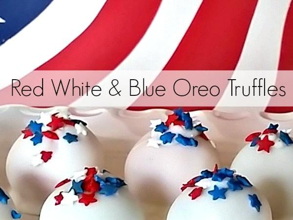 Red, White and Blue Oreo Truffles