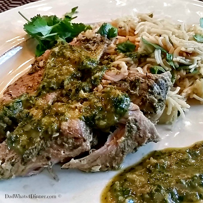 My Slow Cooker Pork Chimichurri is the perfect recipe when you want the wonderful fresh flavor of Argentinean cooking without firing up the grill