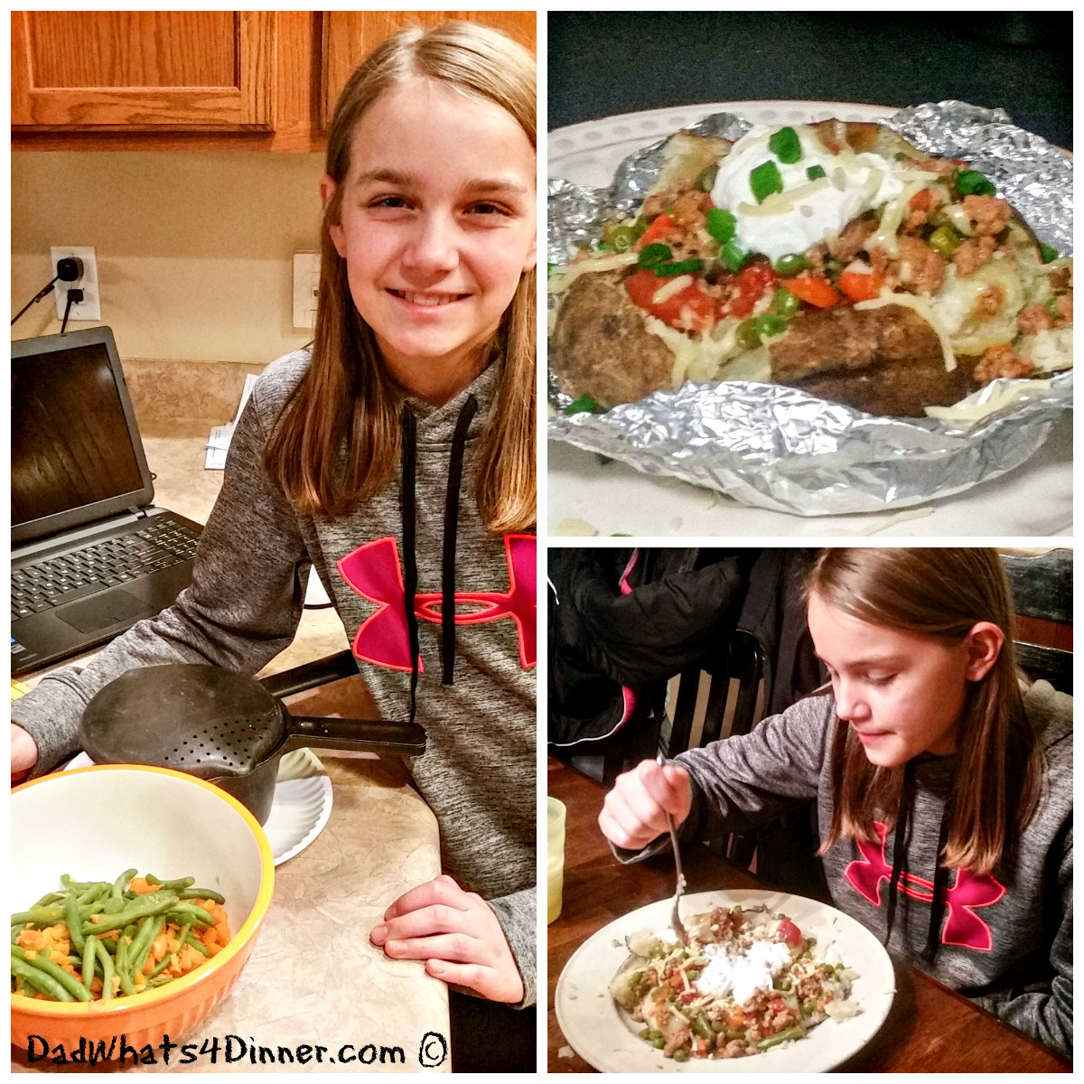Beefy Volcano Potatoes is the perfect easy weeknight meal even your kids can make. Cooking with kids recipes!
