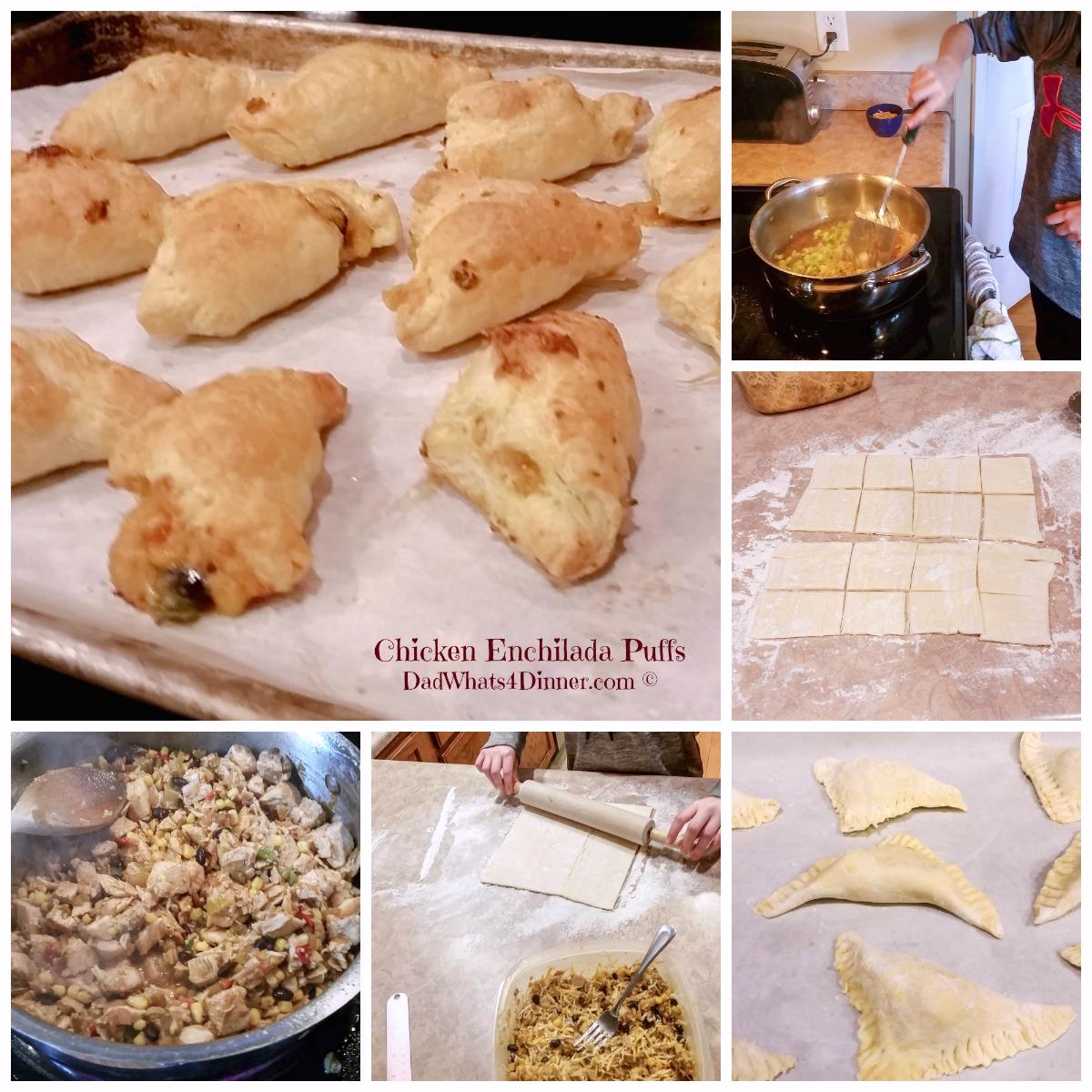 Chicken Enchilada Puffs | http://dadwhats4dinner.com