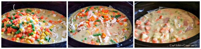 MyHealthy Slow Cooker Chicken Pot Pie is a healthier slow cooker version of the comfort food classic. Easy to make with a healthy twist.