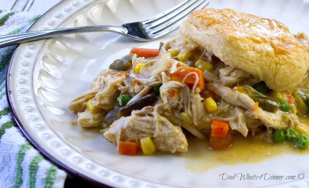 Healthy Slow Cooker Chicken Pot Pie