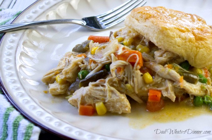 Healthy Slow Cooker Chicken Pot Pie