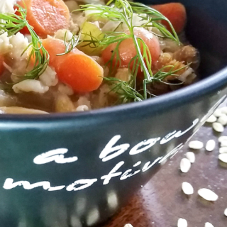 Slow Cooker Creamy Chicken Barley Soup | http://dadwhats4dinner.com