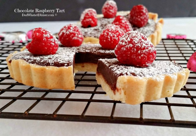 If you want to impress your significant other, make this Chocolate Raspberry Tart. The ultimate Valentine's Day dessert!| https://dadwhats4dinner.com