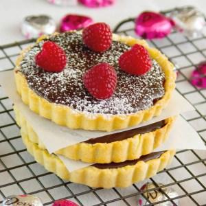 Chocolate Raspberry Tart | http://dadwhats4dinner.com