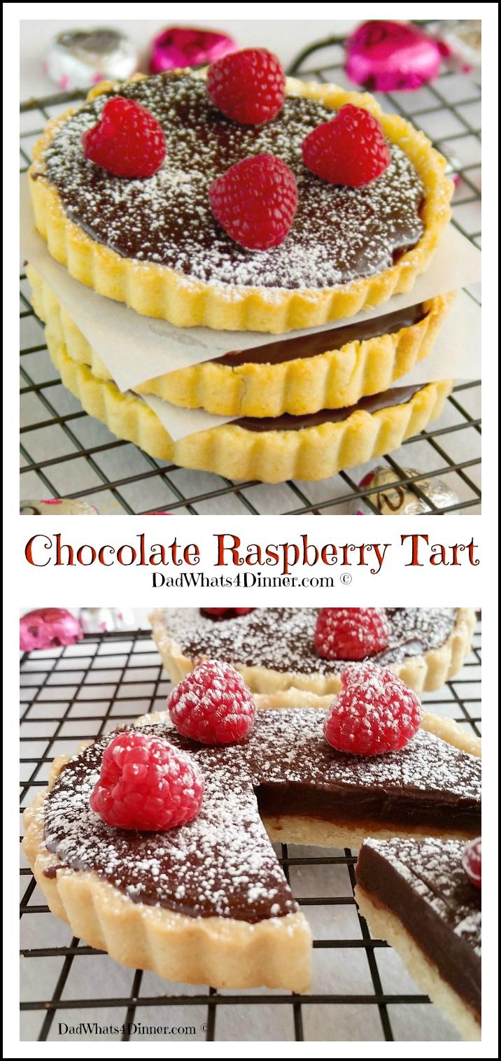Chocolate Raspberry Tart   https://dadwhats4dinner.com
