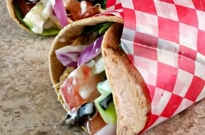 Crock Pot Chicken Ranch Fiesta Wraps