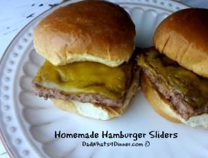 Homemade Hamburger Sliders | www.DadWhats4Dinner.com ©