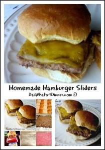 Homemade Hamburger Sliders   www.DadWhats4Dinner.com ©