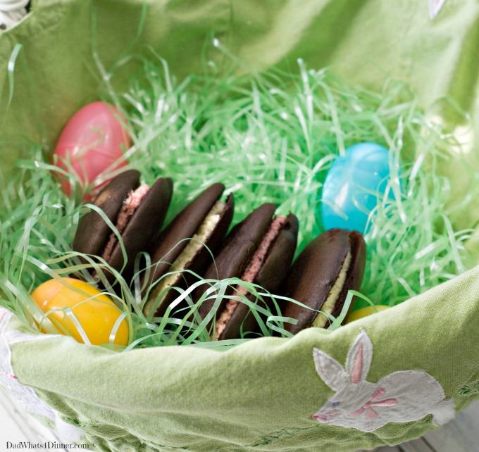 """An alternative to store bought Easter candy, these Whoopie Pies would be the perfect treat from the """"Bunny""""."""