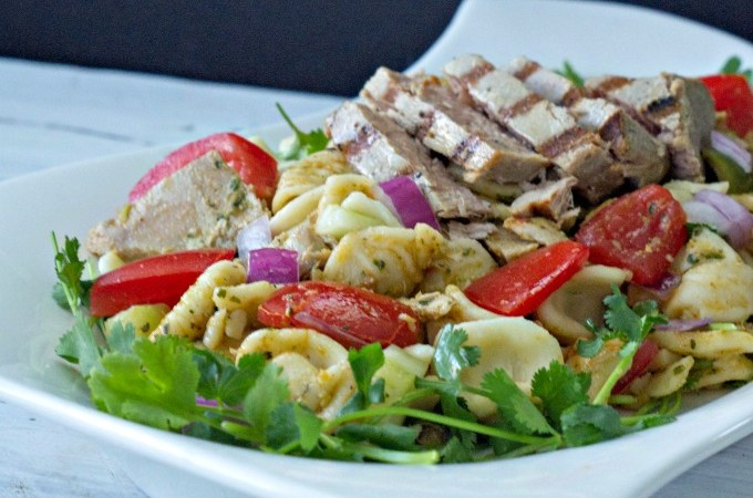 Moroccan Grilled Tuna Pasta Toss